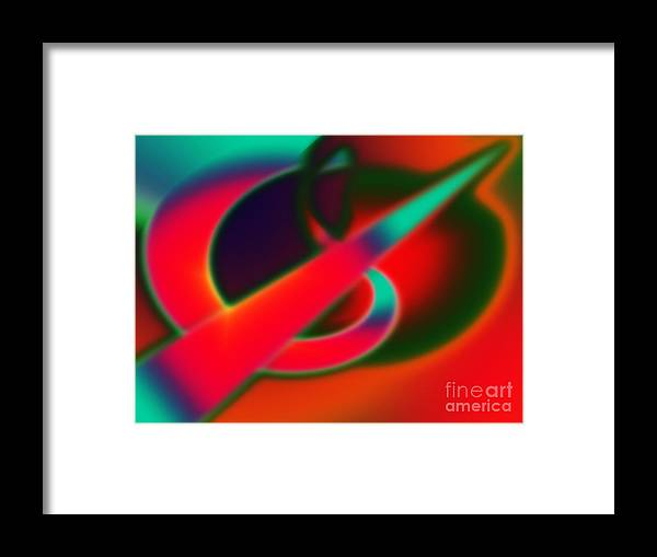 Framed Print featuring the digital art Number One 2011 by Tom Hubbard