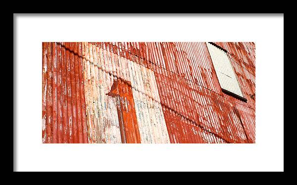 Architectural Photography Framed Print featuring the photograph Number One by Theresa Johnson