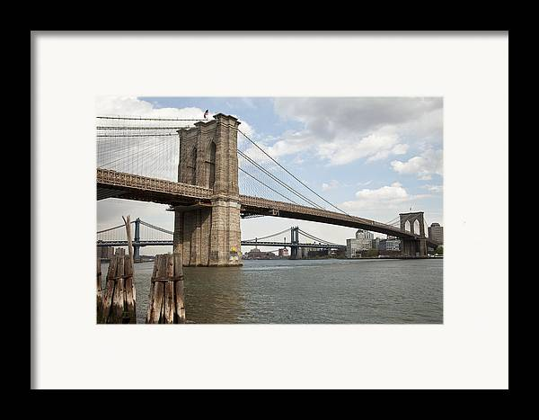 Framed Print featuring the photograph Ny Bridges 1 by Art Ferrier