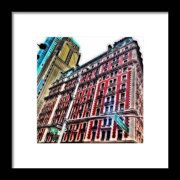 Building Framed Print featuring the photograph #ny #newyorker #architecture #broadway by Joel Lopez