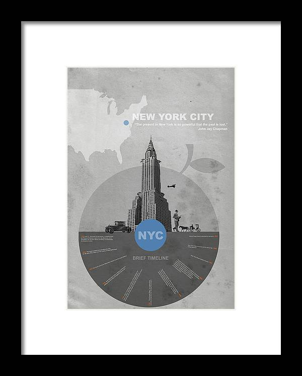 New York Framed Print featuring the photograph Nyc Poster by Naxart Studio