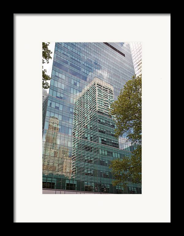Framed Print featuring the photograph Nyc Reflection 1 by Art Ferrier