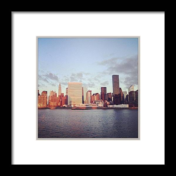 Europe Framed Print featuring the photograph Nyc Sunrise by Randy Lemoine