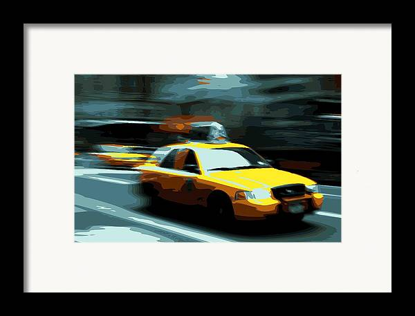 Taxi Framed Print featuring the photograph Nyc Taxi Color 16 by Scott Kelley