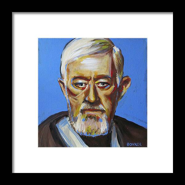 Jedi Framed Print featuring the painting Obiwan by Buffalo Bonker
