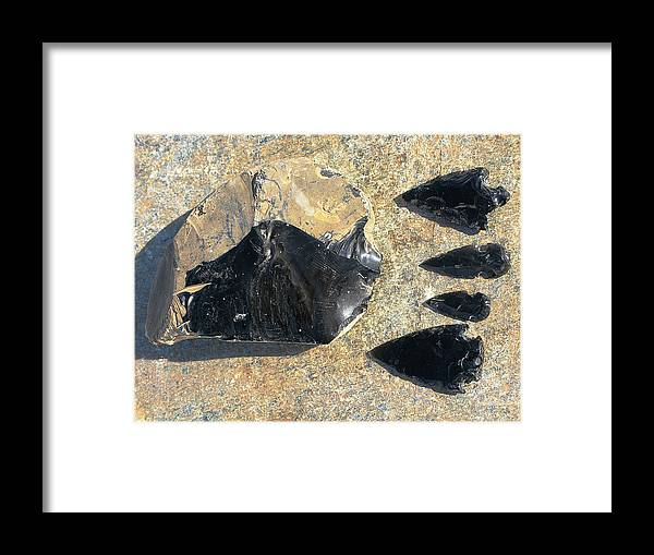 Obsidian Framed Print featuring the photograph Obsidian by Andonis Katanos