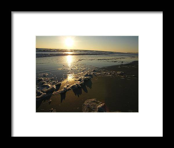 Ocean Framed Print featuring the photograph Ocean by Carole Janello