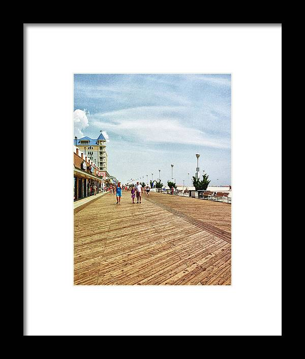 Ocean City Framed Print featuring the photograph Ocean City Boardwalk by Kelly Reber