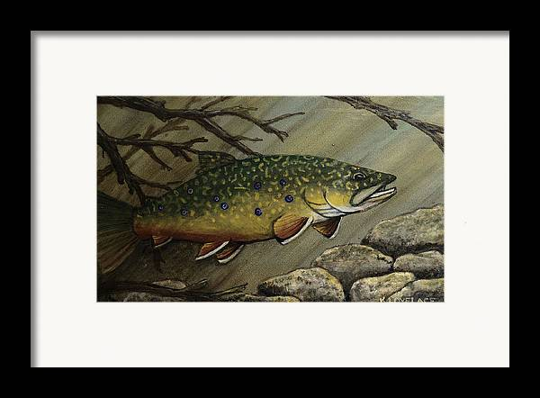 Fish Framed Print featuring the painting October Glory by Kathy Lovelace