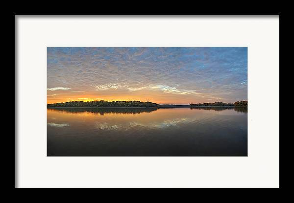 Lake Framed Print featuring the photograph October Sky by Brian Mollenkopf
