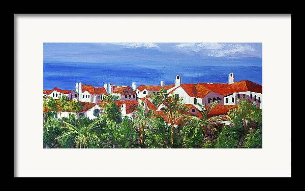 Off The Coast Framed Print featuring the painting Off The Coast by Anthony Falbo