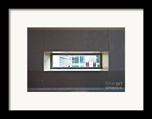 Architectural Detail Framed Print featuring the photograph Office Buildings Seen Through Window by Dave & Les Jacobs