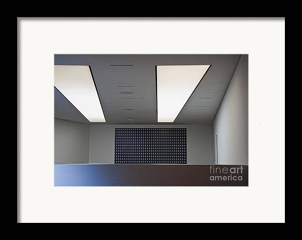 Bleak Framed Print featuring the photograph Office Ceiling by David Buffington