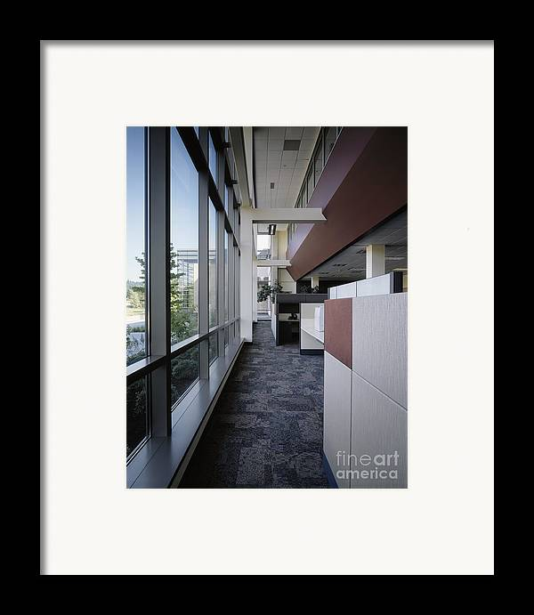 Architecture Framed Print featuring the photograph Office by Robert Pisano