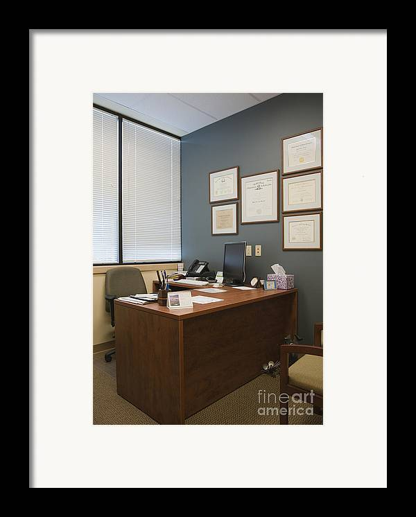 Architectural Detail Framed Print featuring the photograph Office Space by Andersen Ross