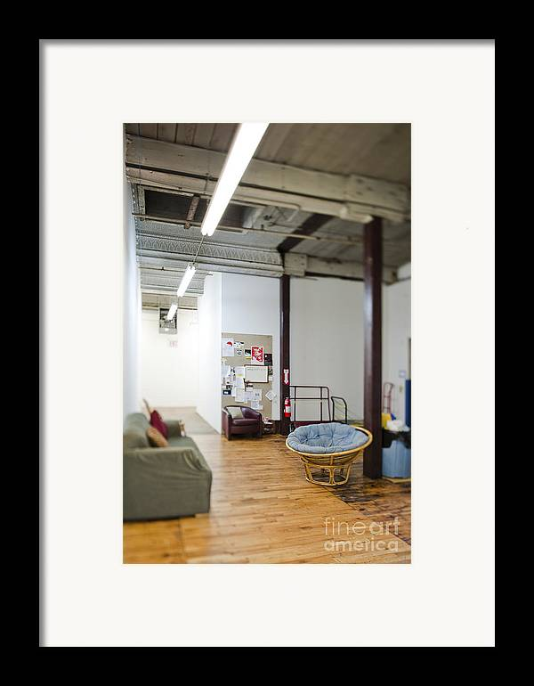 Architecture Framed Print featuring the photograph Office Waiting Area by Eddy Joaquim