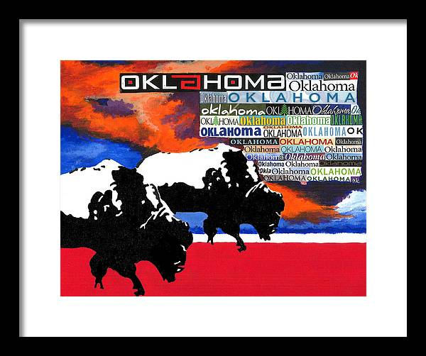 Oklahoma Framed Print featuring the painting Oh Give Me A Home by Chris Cargill