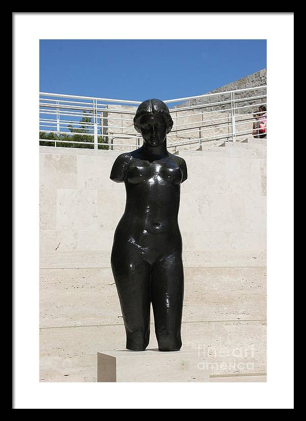Sculpture Framed Print featuring the photograph Ok Where Are My Arms by Bruce Borthwick