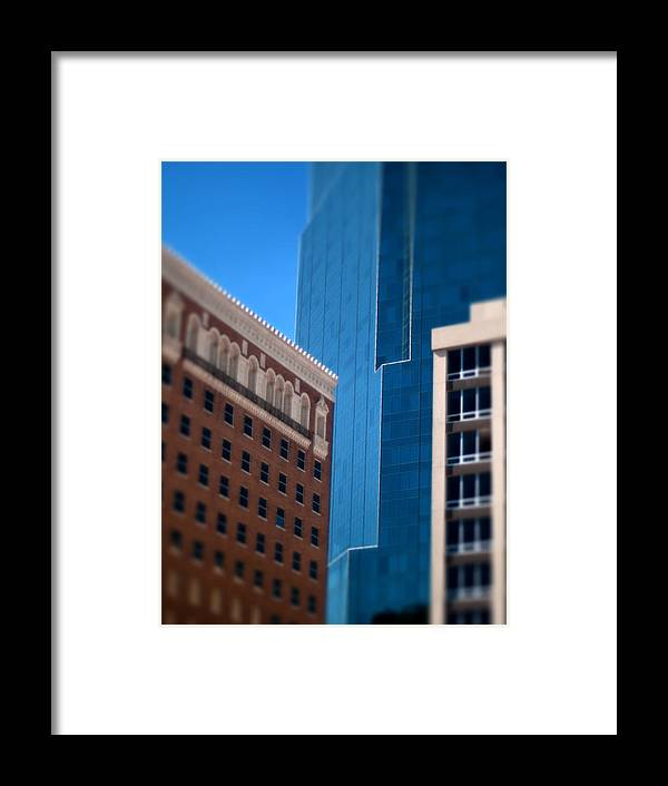 Windows Photographs Framed Print featuring the photograph Old And New In Fort Worth by Jon Herrera