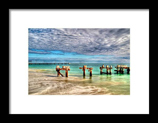 Jetty Framed Print featuring the photograph Old And New by James Fulton