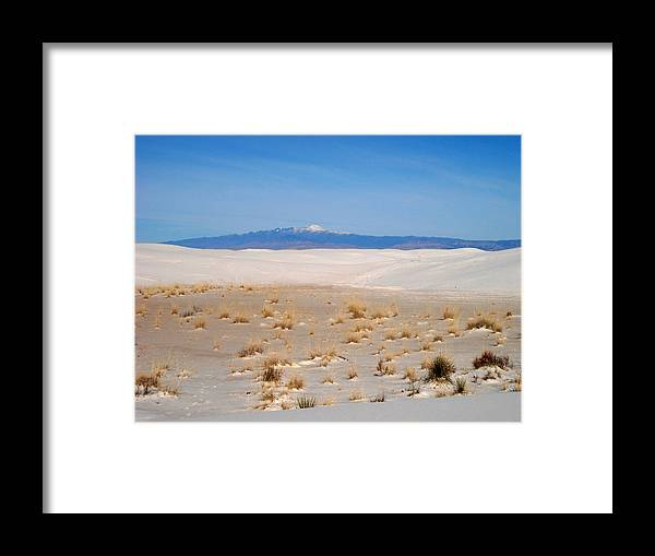 Sand Hills Framed Print featuring the painting Old Baldy Mountain by Randy Rhodes