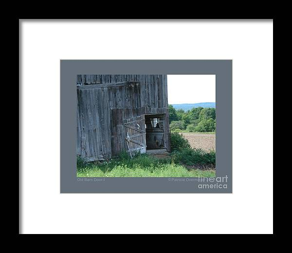 Landscape Framed Print featuring the photograph Old Barn Door-i by Patricia Overmoyer