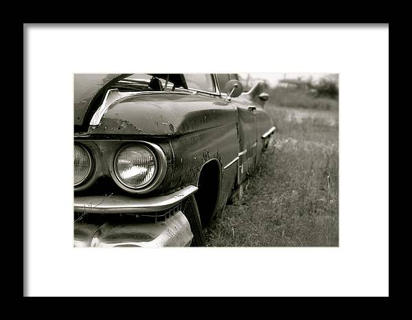 Cadillac Framed Print featuring the photograph Old Cadillac by Emilie Sullivan