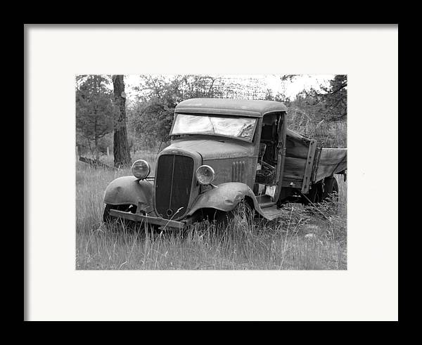 Hot Rod Framed Print featuring the photograph Old Chevy Truck by Steve McKinzie
