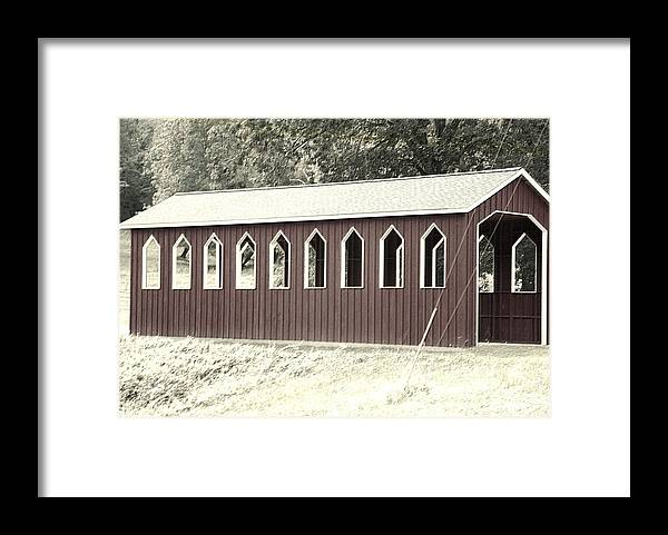 Covered Bridge Framed Print featuring the photograph Old Color Covered Bridge by Regina McLeroy