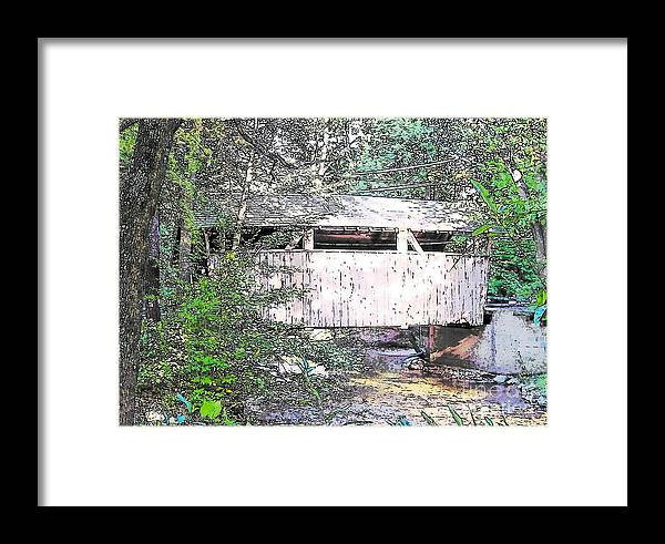 Covered Bridge Framed Print featuring the photograph Old Covered Bridge by Nancy Patterson