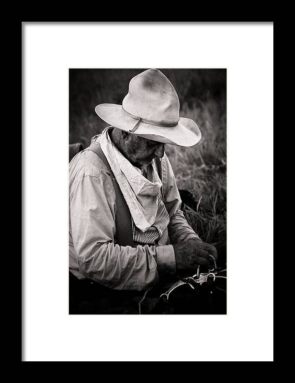 Cowboy Photograph Framed Print featuring the photograph Oklahoma Cowboy by Toni Hopper