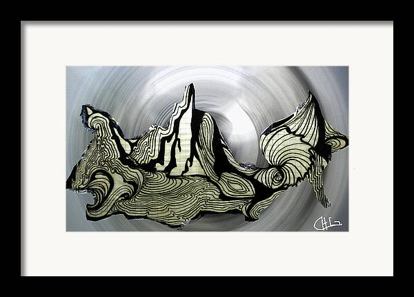 Colette Framed Print featuring the drawing Old Drawing Called Serenity by Colette V Hera Guggenheim