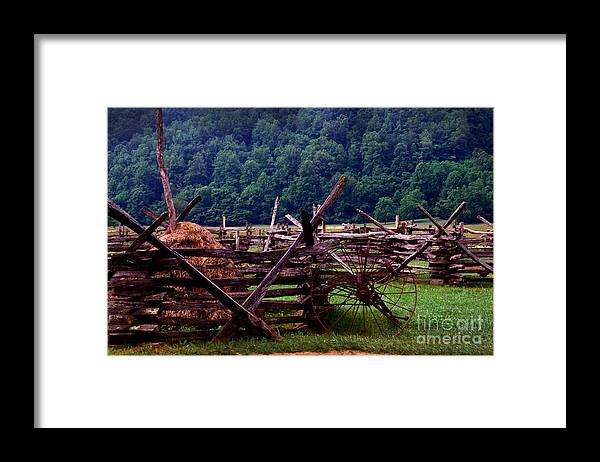 Hay Framed Print featuring the photograph Old Farm Hay Rake by Paul W Faust - Impressions of Light