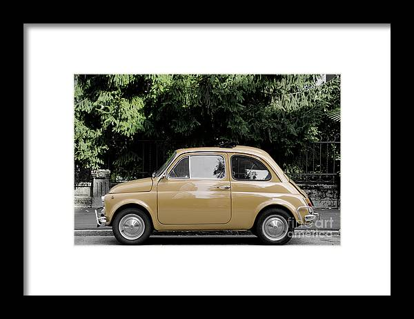 Car Framed Print featuring the photograph Old Fiat by Mats Silvan