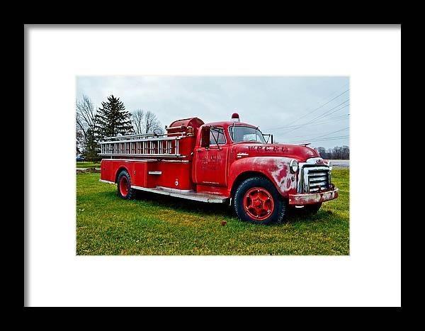 Pumper Framed Print featuring the photograph Old Firetruck by Brenda Becker