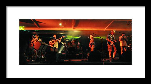 Old Friends Band Framed Print featuring the photograph Old Friends Band Reunion by Mary Frances