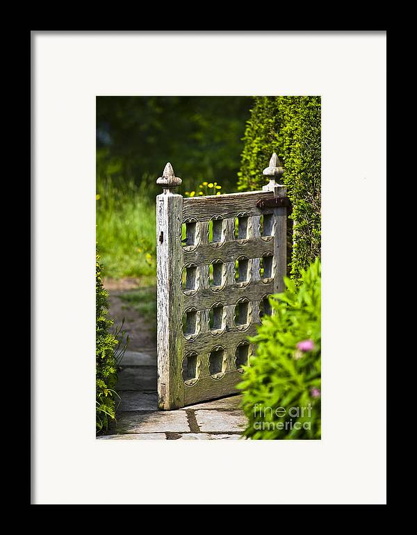 Architektur Framed Print featuring the photograph Old Garden Entrance by Heiko Koehrer-Wagner