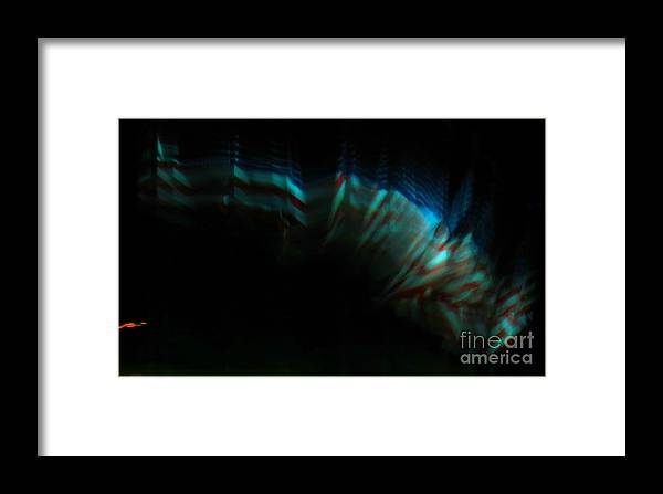 Light Travels Framed Print featuring the photograph Old Glory At Night by Rrrose Pix