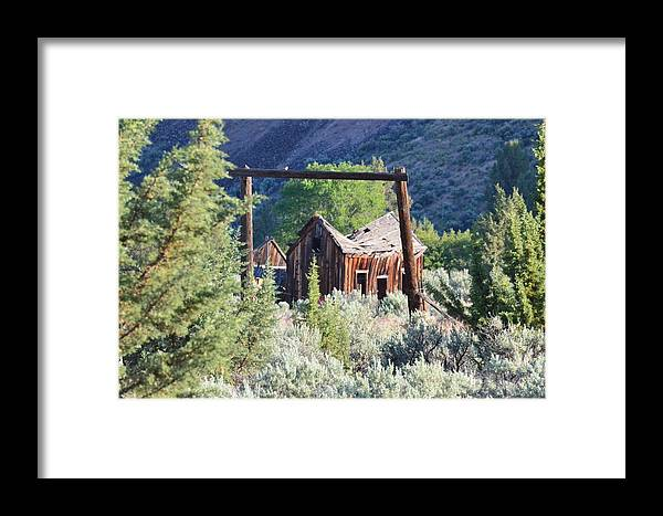 Homestead Framed Print featuring the photograph Old Homestead On Trout Creek by Linda Larson