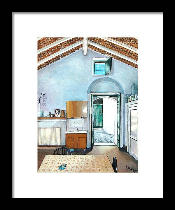 Interior Framed Print featuring the painting Old House Pisticci by Anne Parker