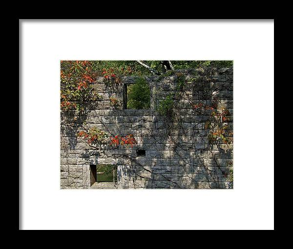 Facades Framed Print featuring the photograph Old Mill Wall by Richard Gregurich