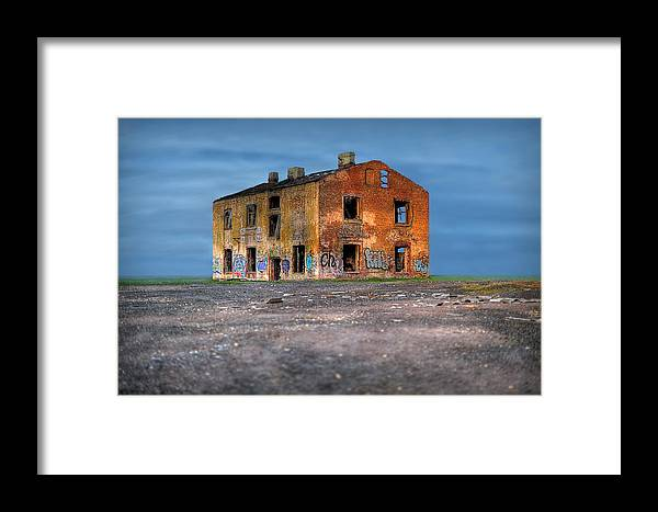 House Framed Print featuring the photograph Old Ruined House by Roman Rodionov