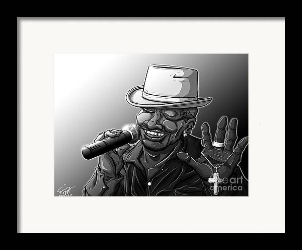 Tuan Framed Print featuring the drawing Old School Brother by Tuan HollaBack