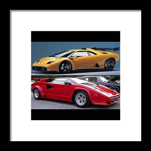 Old School Lamborghini Diablo Or Framed Print By Exotic Rides