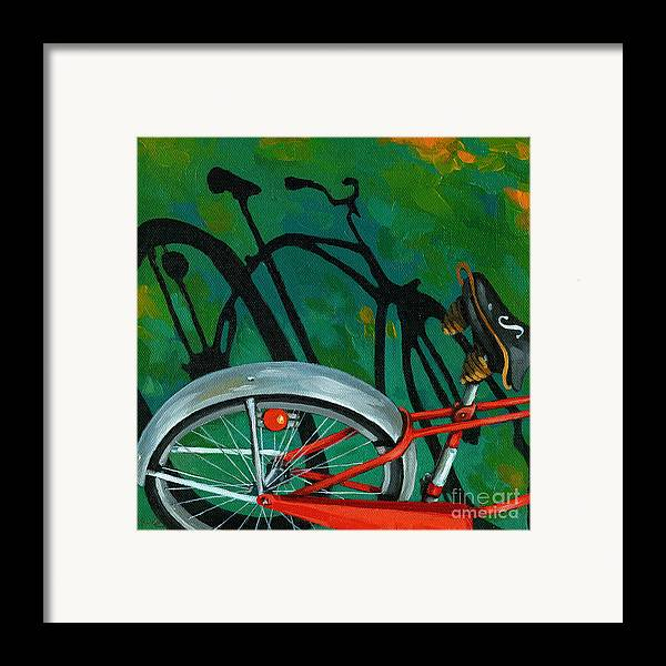 Bike Framed Print featuring the painting Old Schwinn by Linda Apple