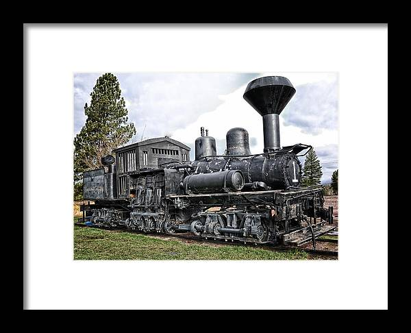 Shay Locomotive Framed Print featuring the photograph Old Shay Locomotive by Jonathan Abrams