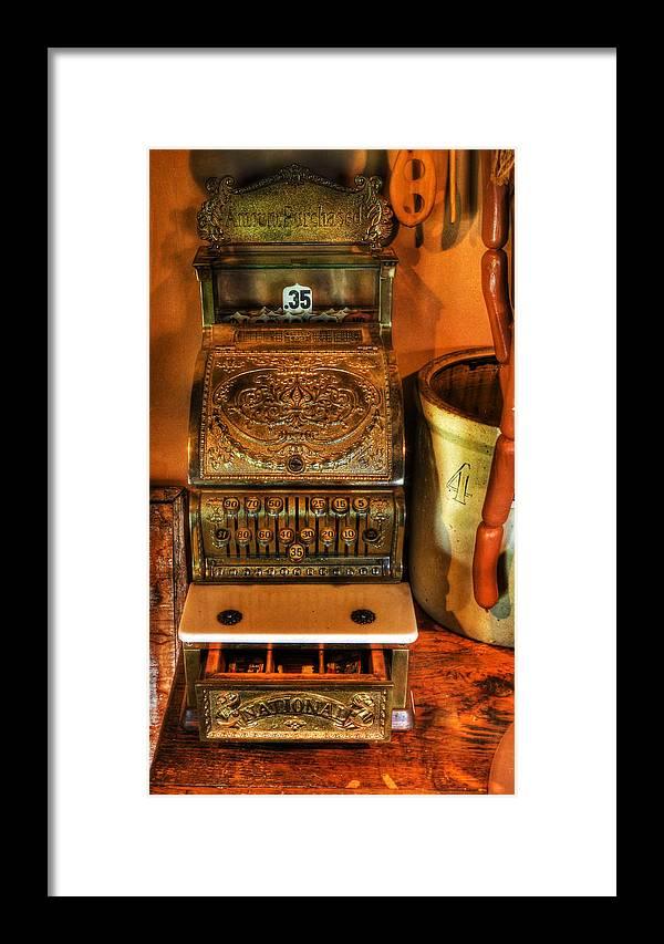 Old Time Cash Register - General Store - Vintage - Nostalgia Framed ...
