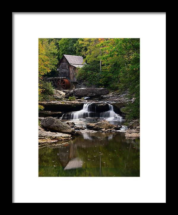 Babcock State Park Framed Print featuring the photograph Old Time Fame by Bernard Chen