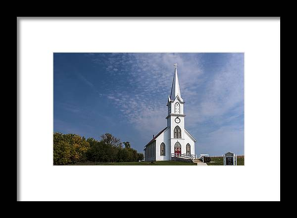 Country Church Framed Print featuring the photograph Old Time Religon by Edward Peterson