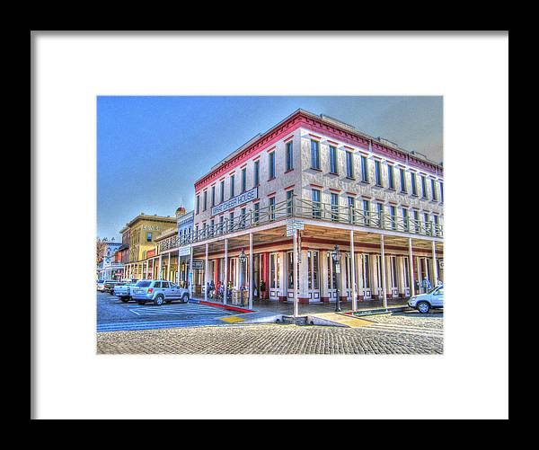 Street Corner Framed Print featuring the photograph Old Towne Sacramento by Barry Jones